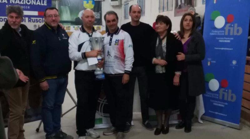 """Bocce – Raffa – Nanni Si Aggiudica Il """" 3° Memorial Antonino Di Ruscio """""""
