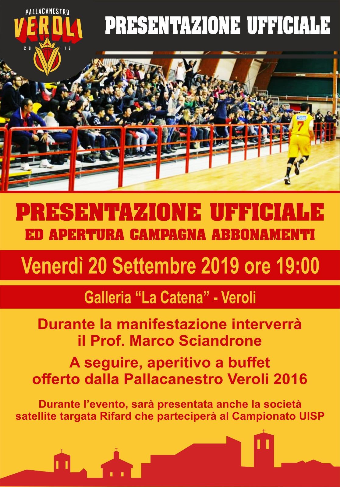 Conferenza Stampa Pallacanestro Veroli 2016