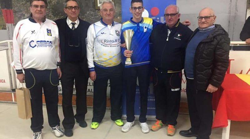 Bocce – Raffa  – Gabriele Quattrociocchi vince il Trofeo la Folgore.
