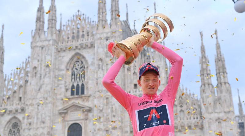 Ciclismo – giro d'Italia –  Tao Geoghegan Hart ha vinto il 103^ giro d'Italia Filippo Ganna primo nella cronometro finale di Milano.