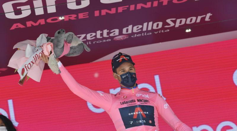 Ciclismo – Giro d'Italia – Filippo Ganna vince la prima tappa del giro d'Italia  ed è la prima maglia rosa.